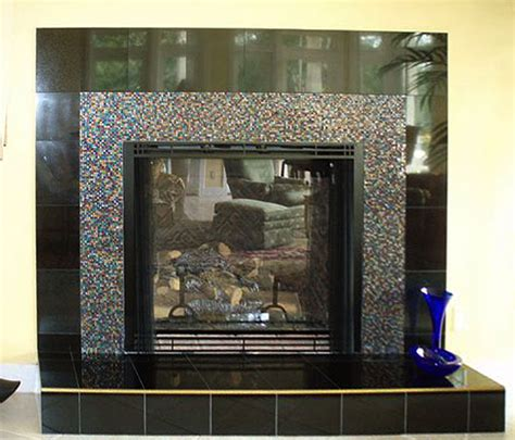 Glass Mosaic Fireplace Surround by Confetti Fireplace Surround Designer Glass Mosaics