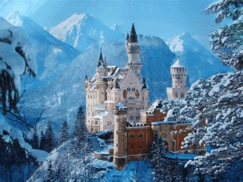 snow castle gif castle germany snow discover share gifs