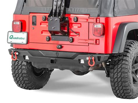 jeep yj rear bumper jcr offroad swbrc2 mid width crusader rear bumper for 76