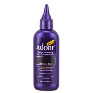 non permanent hair color brands adore plus semi permanent color 390 brown black adore