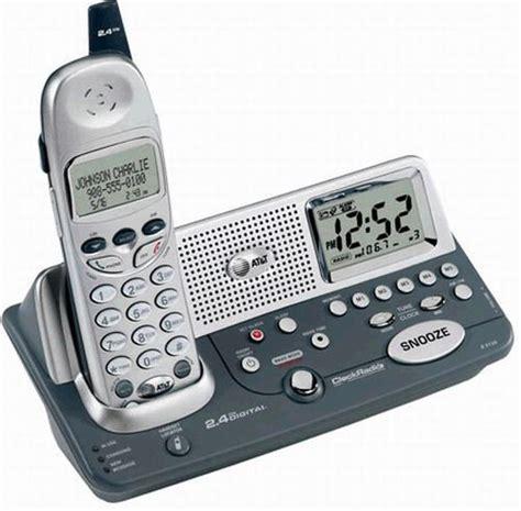 at t e2120 cordless telephone 2 4 ghz with alarm clock radio att e2120 atte2120 att e2120