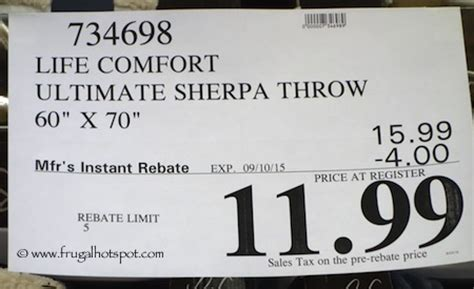 life comfort sherpa throw costco costco sale ultimate sherpa throw 11 99 frugal hotspot