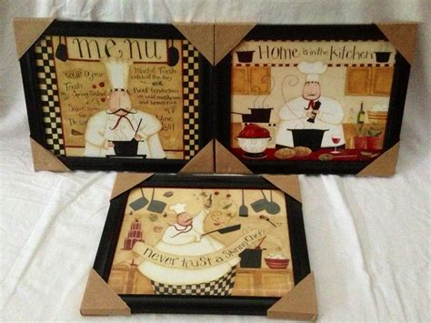 fat chef italian bistro cafe home kitchen interior plaque