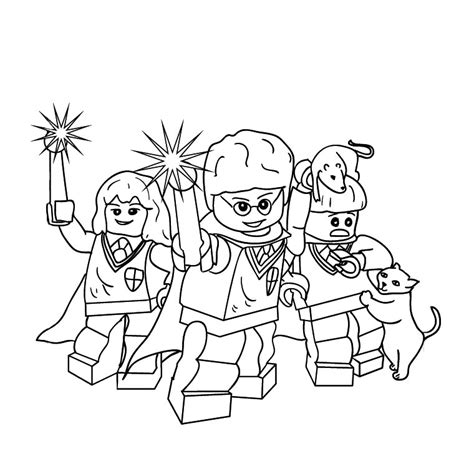 coloring pages harry potter lego free coloring pages