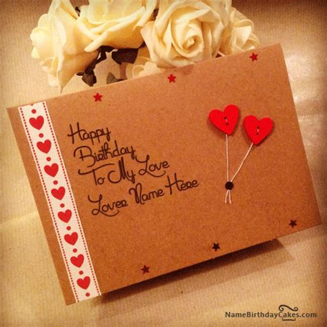 greetings for lover write name on birthday cards for lover birthday wishes