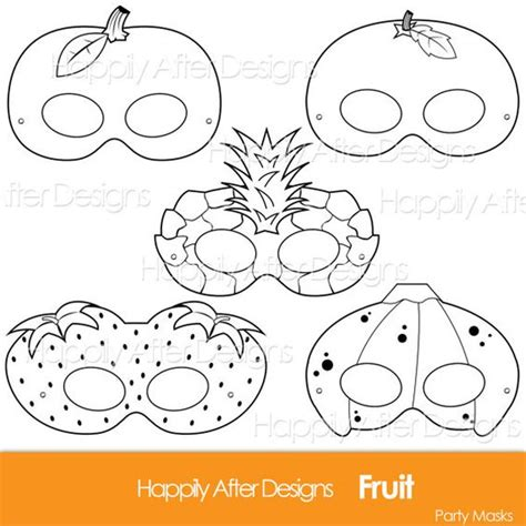 Masker Images Strawberry Fruit Mask Masker Buah Images fruits printable coloring masks strawberry mask banana mask orange apple pineapple fruit