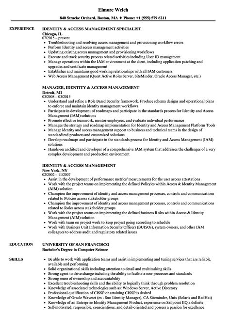 Resume Template Access configuration management specialist sle resume business