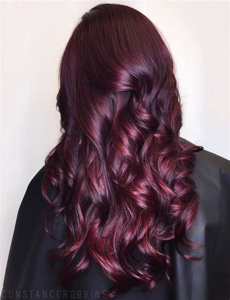haircolor styles withn burgundy accents 45 shades of burgundy hair dark burgundy maroon