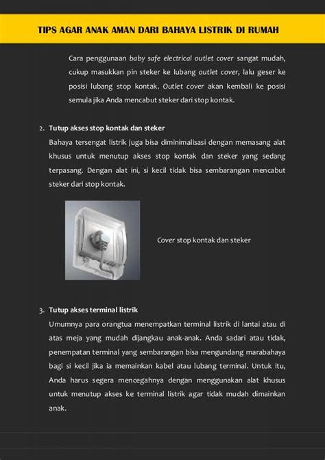 Aman Dari Risiko Suswinarno Ak Mm tips agar anak aman dari bahaya listrik di rumah