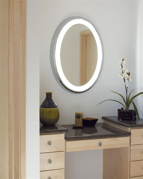 bathroom vanity mirrors with lights tigris oval lighted vanity mirror modern bathroom