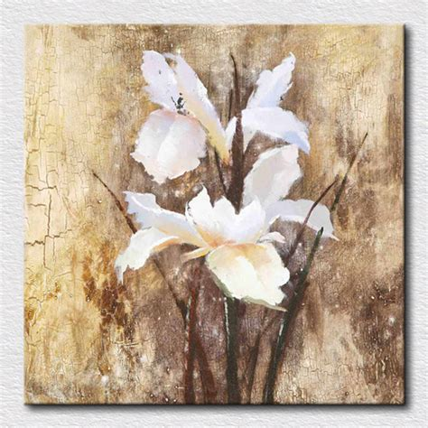 Handmade Paintings For Sale - aliexpress buy modern white flowers painting canvas