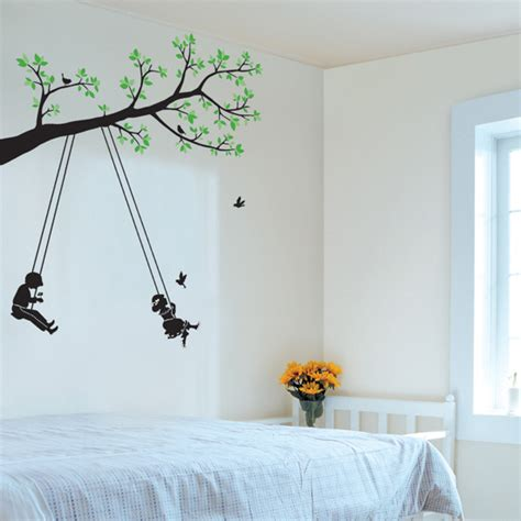 wall paintings tree and swing wall art stickers will belong to you your