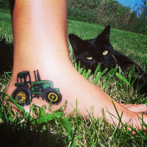 tractor tattoos tractor on foot