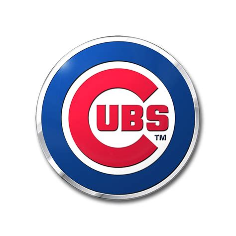 chicago cubs colors chicago cubs color emblem car or truck decal team promark