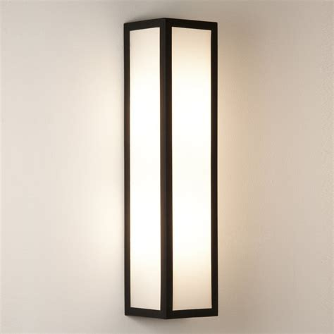 astro lighting salerno 0848 black outdoor wall light