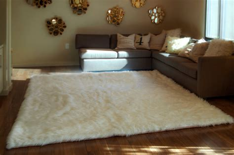 10x12 area rug 10 x 12 white shaggy fur faux fur rug rectangle