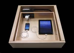 clear clutter and dock discreetly with the drawer