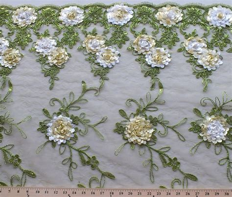 embroidered fabrics embroidered sequined metallic on sheer lace floral fabric