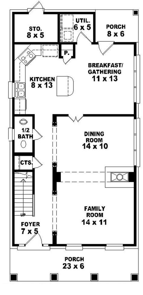 narrow one story house plans 653584 2 story traditional plan perfect for a narrow lot house plans floor plans