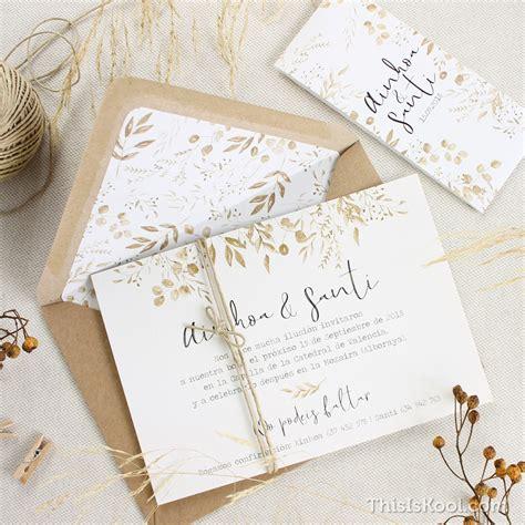 tendencias 2018 invitaciones boda kraft blanco color estudio posidonia ideas para bodas de oto 241 o el de this is kool