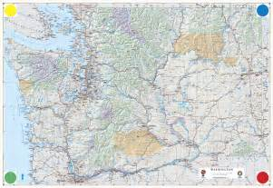 Washington State Highway Map by Washington State Road Map Images