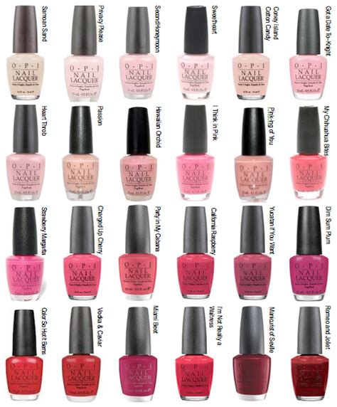 opi pink colors opi color options strawberry margarita is my fave