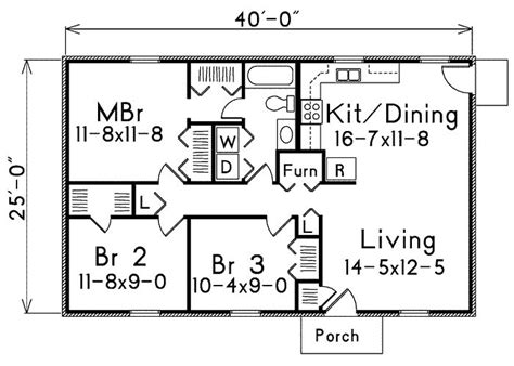 3 bedroom 1000 sq ft plan 1000 square feet 2 bedrooms 2 batrooms on 1 levels house plan 19752 all house plans