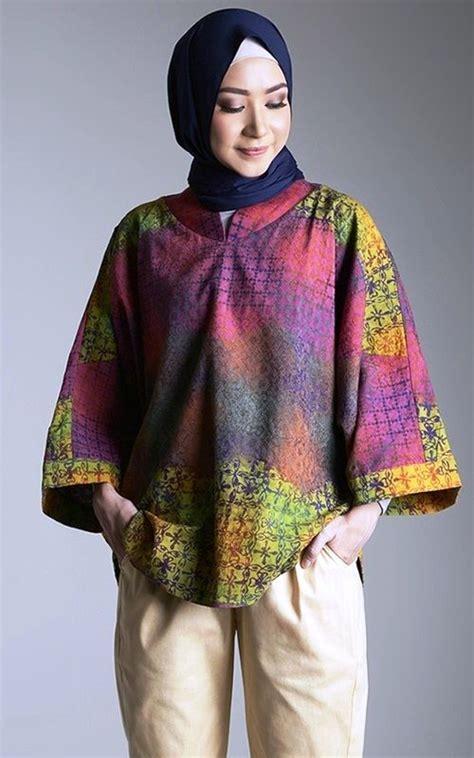 design baju atasan batik modern ッ 25 model baju batik atasan untuk wanita muslimah modern