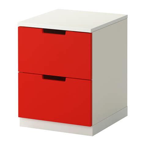 nordli lemari 2 laci merah putih ikea