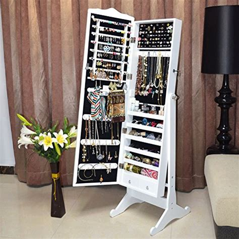 white standing mirror jewelry armoire organizedlife white mirror jewelry armoire free standing