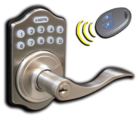 Electronic Front Door Lock Lockey E Digital Remote Key Fob Keyless Entry Locks Keypad Pushbutton Combination