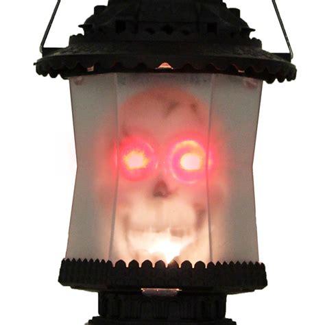 light up halloween decorations led skull lantern music sounds light up scary skeleton