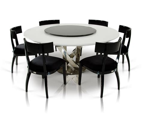 Dining Table With Lazy Susan A X Spiral Modern White Dining Table With Lazy Susan