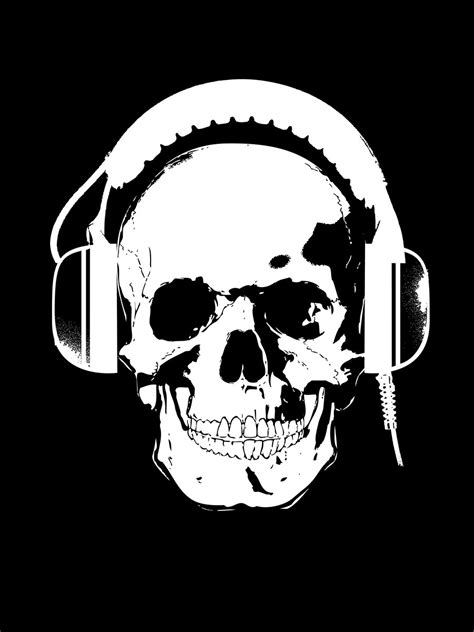 Skull Headphones skull headphones t shirt black buy at