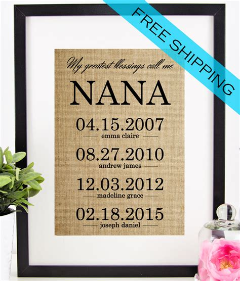 nana gifts personalized nana gift s day gift for grandmother