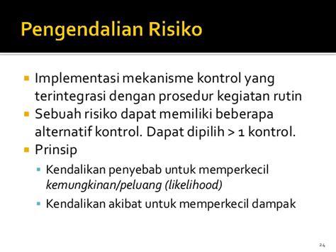 Manajemen Risiko Prinsip Penerapan Dan Penelitian strategi dan penerapan manajemen risiko keamanan informasi pse layana