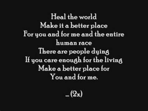 testo heal the world di michael jackson michael jackson heal the world letra