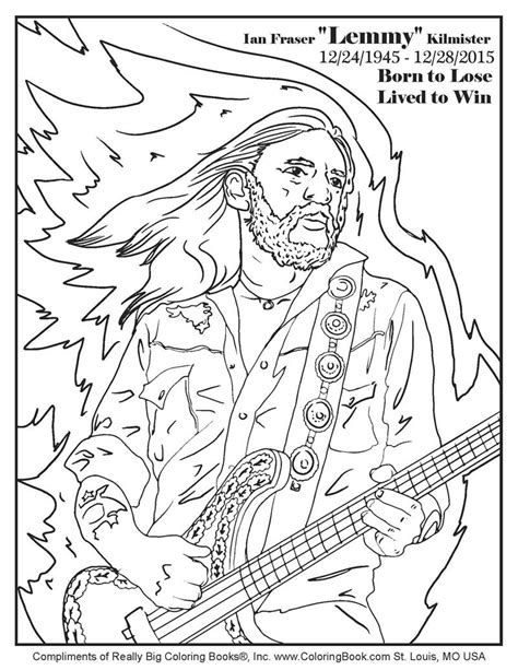 free coloring book coloring books ian fraser quot lemmy quot kilmister free