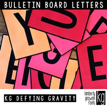 printable fonts for bulletin boards bulletin board letters kg defying gravity easy cut by