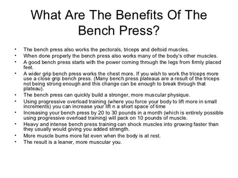 benefits of bench press 28 images the bench press