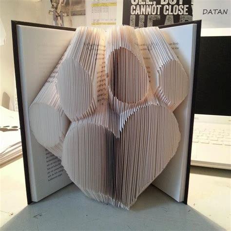 heart paw book folding pattern free tutorial