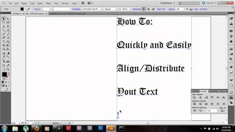 adobe illustrator cs6 justify text adobe illustrator cs5 tutorial align distribute text