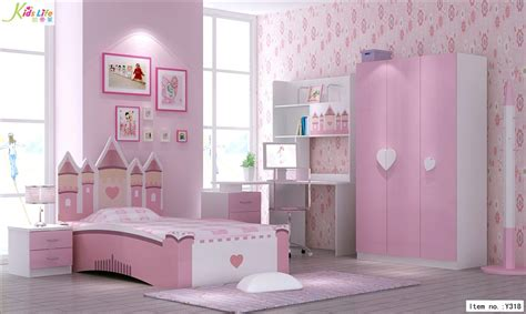 Toddler Bedroom Furniture China Pink Castle Bedroom Furniture Sets Y318 China