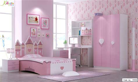 China pink castle kids bedroom furniture sets y318 china art