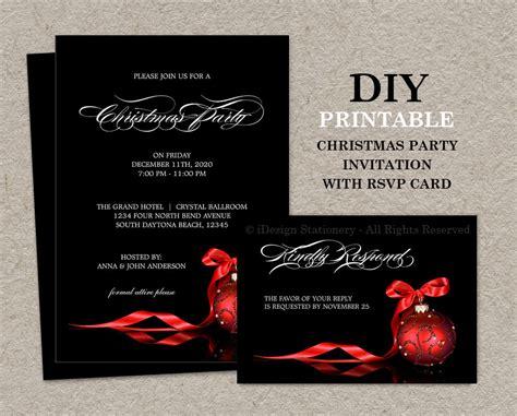 printable elegant birthday invitations elegant christmas invitations with rsvp cards diy printable