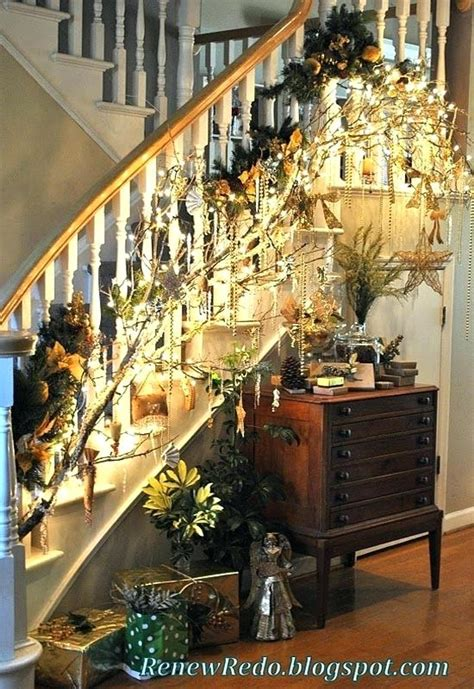 banister decorating ideas festive banister decorations