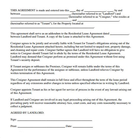 printable residential lease agreement texas sle texas residential lease agreement 8 download