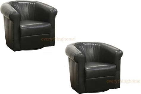 leather swivel club chair new black brown faux leather modern accent club chair 360 degree swivel designer ebay