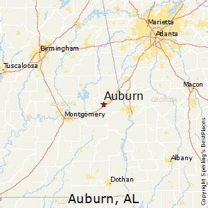 best places to live in auburn alabama