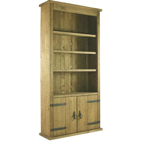 Rustic Pine Bookcase Rustic Pine 2 Door Bookcase Next Day Delivery Rustic